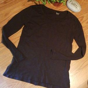 Madewell burnout long sleeve tshirt xs